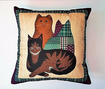 CAT cushion cover Country look cotton 40cm /16 inch - CLEARANCE