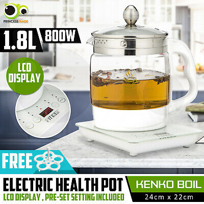 Electric 1.8L Litres 4 Pre-Program Temperature Settings Smart LED Tea Kettle