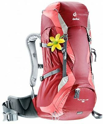 NEW DEUTER FUTURA 30 Sl Day Pack Adjustable Backpack Rucksack Cranberry Coral