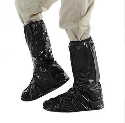 Motorcycle Biker Waterproof PVC Anti-Slip Rain Boots Shoes Guard Overshoes Cover