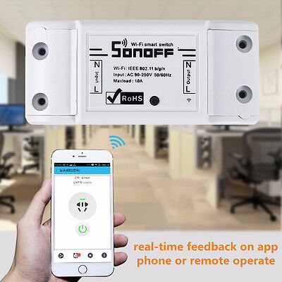 Sonoff ITEAD WiFi Wireless Smart Switch Module ABS Shell Socket DIY Home XN6