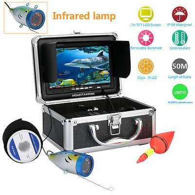 "50M IR 7"" Underwater 1000TVL Under water Lake Fishing fish finder Camera Monitor"