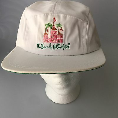 Vintage The Beverly Hills Hotel Hat Adjustable Back White