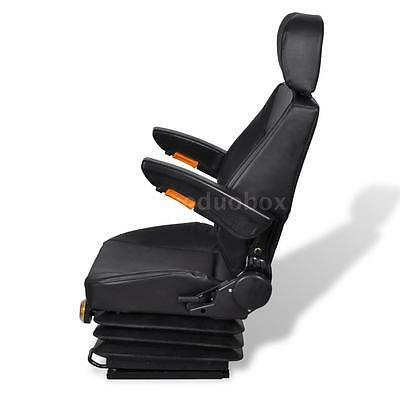 NEW Tractor Seat with Armrest and Headrest with Spring Tracks Suspension S8P6
