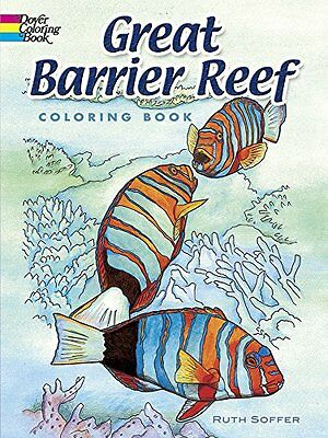 Coloring Book For Adults Fish Starfish Design Inspire Stress Relieving Relax Fun