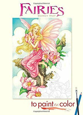 Coloring Book For Adults Kids Beautiful Fairy Designs Stress Relief Therapy Fun
