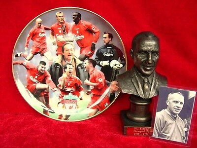 Liverpool Fc Gift Set Bill Shankly Bust With Treble Winners Plate Danbury Mint