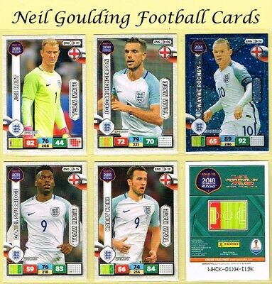 Panini ROAD TO WORLD CUP 2018 ☆☆ ENGLAND ☆☆ Football Cards #ENG01 to #ENG18