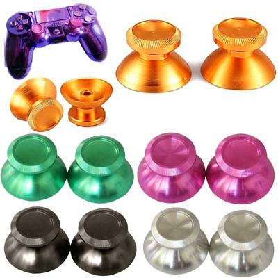 2 Pcs Multi-function Thumbsticks Metal Aluminum For PS4 Game Xbox One Top
