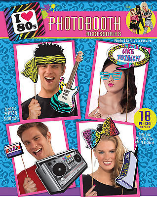 80s Party Decorations - I love 80s Photobooth Props