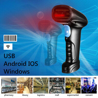 Bluetooth USB Laser Gun Barcode Reader Label Pos Scanner For IOS Android Windows