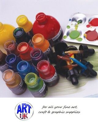 Liquitex professional artists ACRYLIC INK! 30/150ml jar colours pen cleaner sets