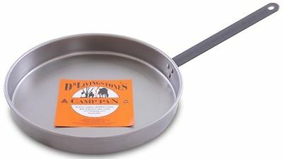 New Dr.livingstone's Frypan Large 35Cm Carbon Steel Strong Durable Camping Cook
