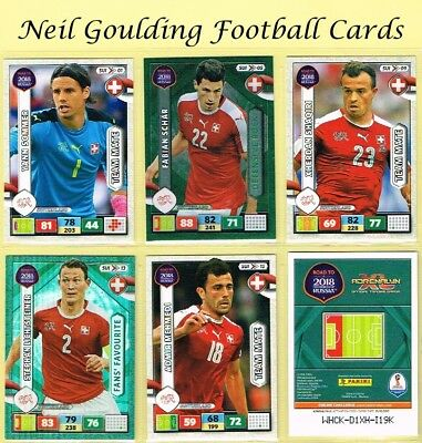 Panini ROAD TO WORLD CUP 2018 ☆☆ SWITZERLAND ☆☆ Football Cards #SUI01 to #SUI18