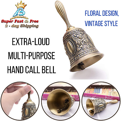 "Front Desk Bell Victorian Style Brass Service Bell Antique Counter Bells 3"" X 3"""
