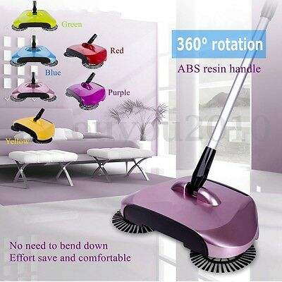 Swivel Automatic Hand Push Sweeper Broom Household Cleaning Without Electricity