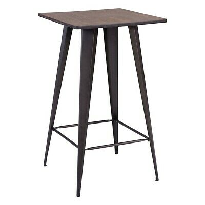 Zuo Modern Titus Bar Table, Rustic Wood - 601188