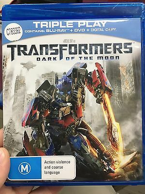 Transformers Dark Of The Moon ex-rental BLU RAY (2011 sci-fi action movie) cheap