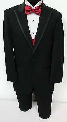 Boys Size Black Jean Yves Two Button Tuxedo Jacket With Pants Wedding Ringbearer