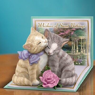 Whiskers of Sweet Nothing Pair of Cats Thomas Kinkade Figurine