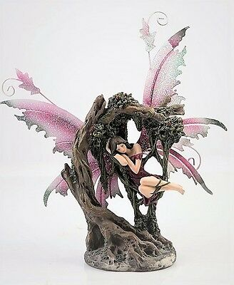 Magenta Fairy Sleeping in Tree Legends of Avalon Figurine