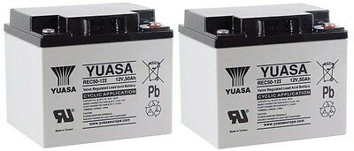 PAIR OF YUASA 50Ah AMP MOBILITY/GOLF BATTERIES REC50-12 V
