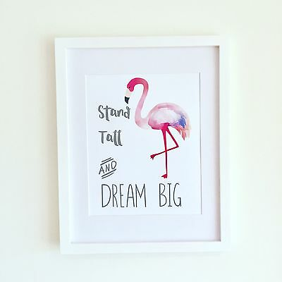 Flamingo Art Quote Print Wall Decor A4- Great Gift