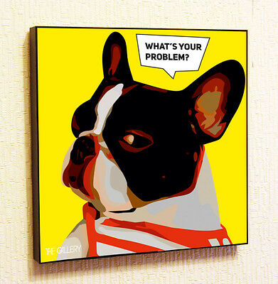 Bulldog Painting Decor Print Wall Art Poster Pop Canvas Quotes Decals