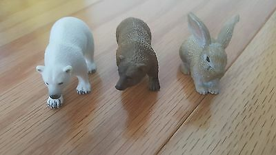 Yowie surprise eggs toy lot of 3 animals figurines