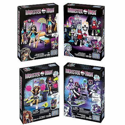 Mega Bloks Monster High Character Playsets Team Fear Squad Kids Play Set Toy NEW