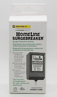 Square D Homeline SurgeBreaker Protective Device Takes 2 Load Center HOM2175SB