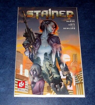 STAINED #1 1st print 451 MEDIA COMIC 2017 DAVID BARON NM  YUSUF IDRIS NM NEW HTF