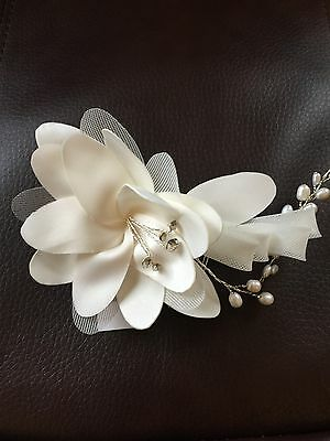Cara Flower Hair Comb With Crystals Wedding Bride Prom Ivory New