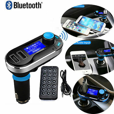Bluetooth Wireless FM Transmitter Car Kit MP3 Player SD Adapter USB LCD Remote