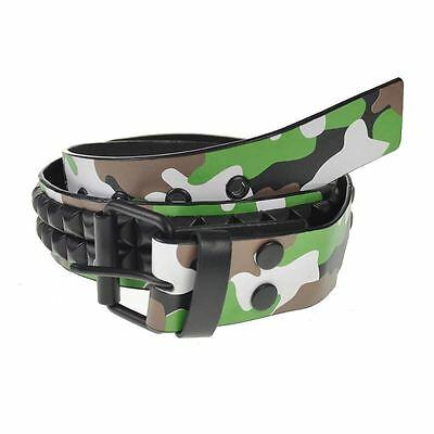 Unisex Stylish Studded Camouflage Belt