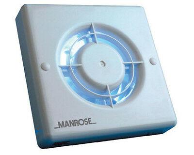 "Manrose XF100TB 4"" Standard Size Extractor Fan With Overrun Timer New"
