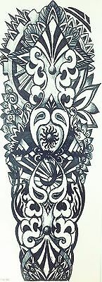 Full Sleeves Extra Large Temporary Flash Tattoo Stickers 39x21cm QB-3010 Totem