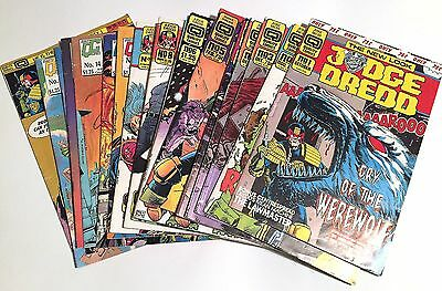 Judge Dredd - Fleetway Quality 1987 - 15 issues