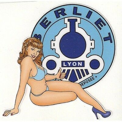 BERLIET right Pin Up droite Sticker