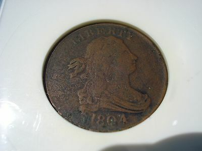 1804 Draped Bust  Half Cent  VF Details Net Fine 12 Corroded Cleaned C-13
