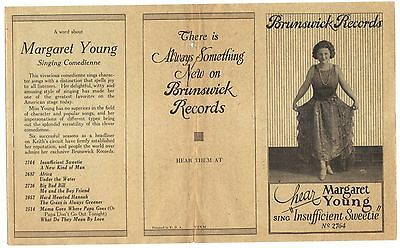 Brunswick Records Folder Advertising  Brunswick Records and Margaret Young 1920s