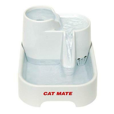 Cat Mate Fresh Clean Filtered Water Drinking Fountain Bowl Cats & Small Dogs New