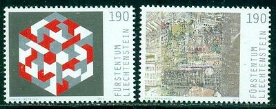 Liechtenstein Joint Issue With Singapore Geometrics, Mint, Og, Nh, Great Price!