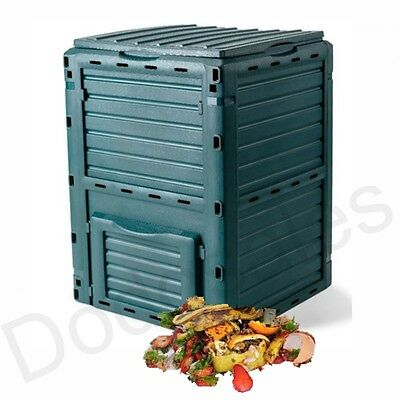 Composter Bin Drum Aerator Recycle Compost Garden Food Waste Scrap Container NEW