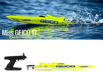 Pro Boat Miss Geico 17-inch Catamaran Brushed Boat: RTR