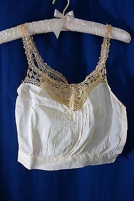 Victorian Yellow Camisole- Small- Yellow Tatted Yoke & Straps- LOVELY-  SALE