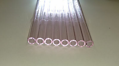 Glass Tubing PINK BOROSILICATE (PYREX) 8 PIECES 150MM LONG 10MM*1.5MM Tube