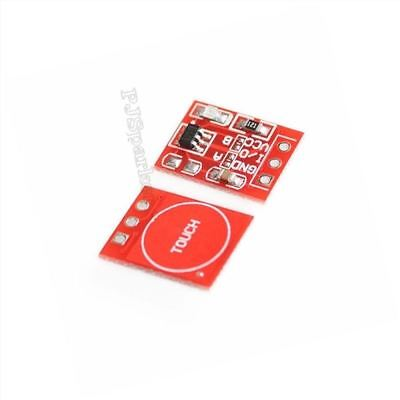 10Pcs For Arduino TTP223 Capacitive Touch Switch Button Self-Lock Module Ic New