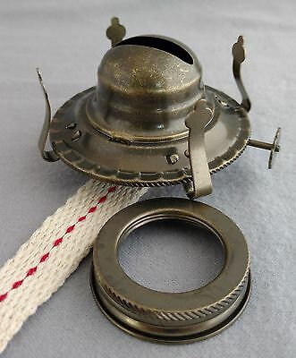 #2 OIL LAMP BURNER with ANTIQUE BRASS PLATED FINISH, fits NEW & OLD #2 OIL LAMPS