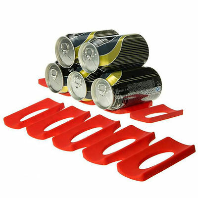 Silicone Beer Wine Bottle Rack Holder Stack Water and Food Cans Fridge Tool TOP